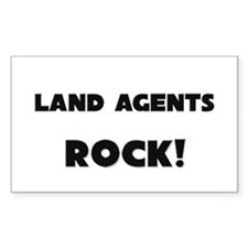 Land Agents ROCK Rectangle Decal