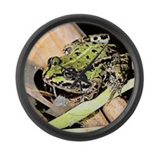 Green Frog, Denmark Large Wall Clock