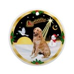 NightFlight/Golden Retriever 1 Ornament (Round)