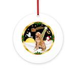 NightFlight/Golden Retriever 1 Ornament (Round)