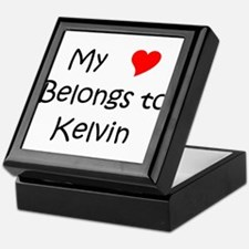 Cute Kelvin name Keepsake Box