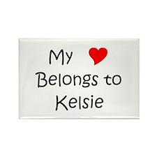 Funny Kelsie Rectangle Magnet