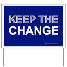 Keep the Change Anti Obama Yard Sign