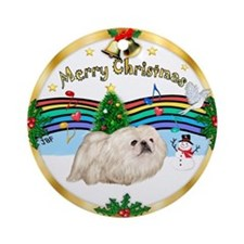 XmasMusic1MC/ Pekingese Ornament (Round)