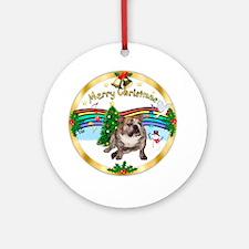 XmasMusic1MC/ English Bulldog Ornament (Round)
