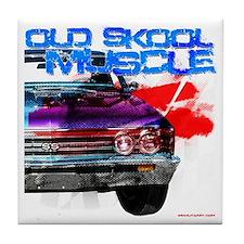 old Skool 67 Chevelle Tile Coaster