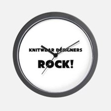 Knitwear Designers ROCK Wall Clock
