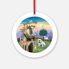 St Francis/ EBD #1 Ornament (Round)