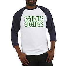 Seasons Greetings Green Baseball Jersey