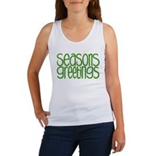 Seasons Greetings Green Women's Tank Top