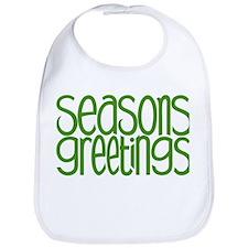 Seasons Greetings Green Bib