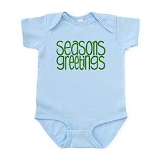 Seasons Greetings Green Infant Bodysuit