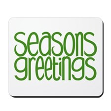 Seasons Greetings Green Mousepad