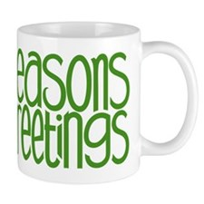 Seasons Greetings Green Mug
