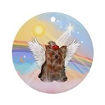 Clouds/ Yorkie #11 Angel Ornament (Round)