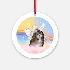 Clouds/ Shih Tzu #8 Angel Ornament (Round)