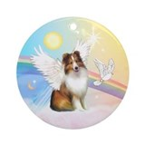 Sheltie angel Round Ornaments