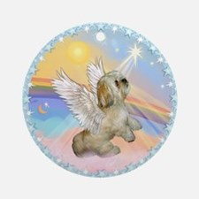 Clouds/ Lhasa Angel Ornament (Round)