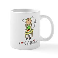 I Love to Embroider! Lefty Mug