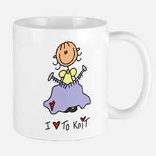 I Love to Knit! Lefty Mug