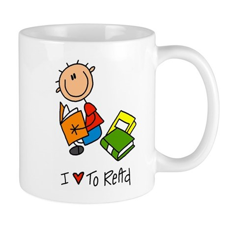 I Love to Read! Lefty Mug