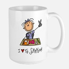 I Love to Scrapbook! Lefty Large Mug