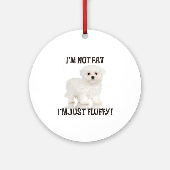 Maltese Puppy Ornament (Round)