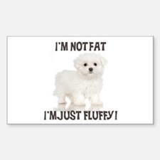 Maltese Puppy Rectangle Decal