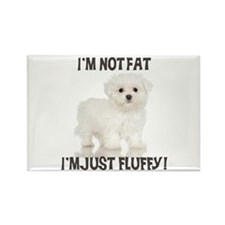Maltese Puppy Rectangle Magnet