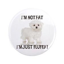 "Maltese Puppy 3.5"" Button"