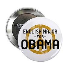 "English Major for Obama 2.25"" Button"