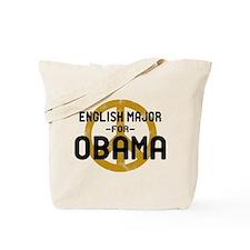 English Major for Obama Tote Bag