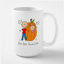 Peter Peter Pumkin Eater Lefty Large Mug