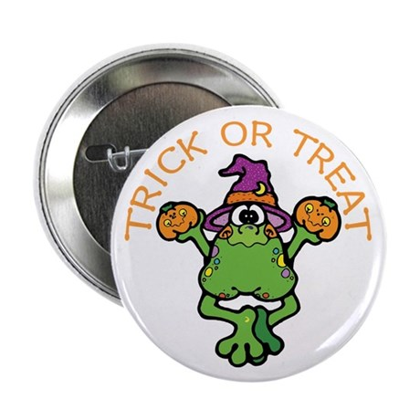 "Trick or Treat Frog 2.25"" Button (10 pack)"