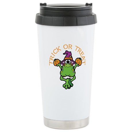 Trick or Treat Frog Stainless Steel Travel Mug