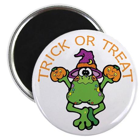 Trick or Treat Frog Magnet