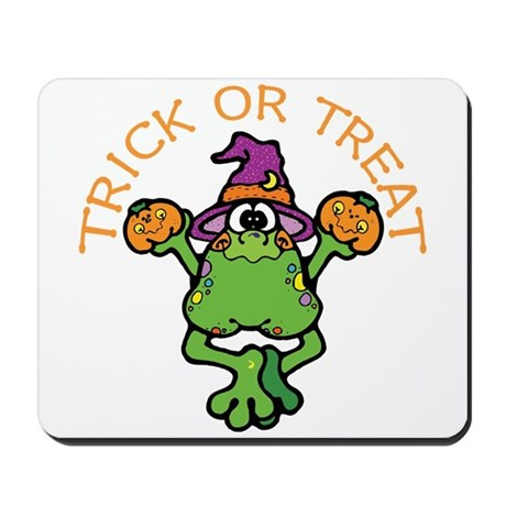Trick or Treat Frog Mousepad