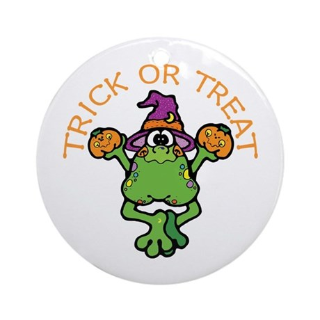 Trick or Treat Frog Ornament (Round)