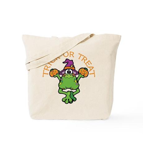 Trick or Treat Frog Tote Bag