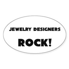 Jewelry Designers ROCK Oval Sticker