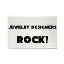 Jewelry Designers ROCK Rectangle Magnet