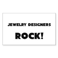 Jewelry Designers ROCK Rectangle Sticker