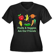 Fruits & Veggies Women's Plus Size V-Neck Dark