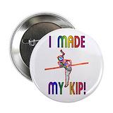 Gymnast button 10 Pack