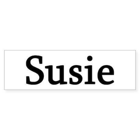 Susie - Personalized Bumper Sticker