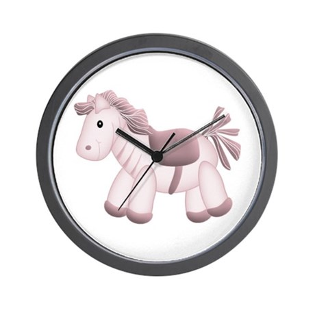 Pink Horse Wall Clock