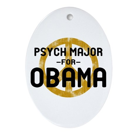Psych Major for Obama Oval Ornament