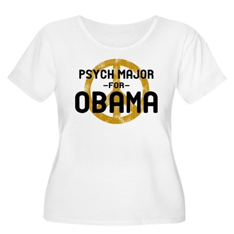 Psych Major for Obama Women's Plus Size Scoop Neck