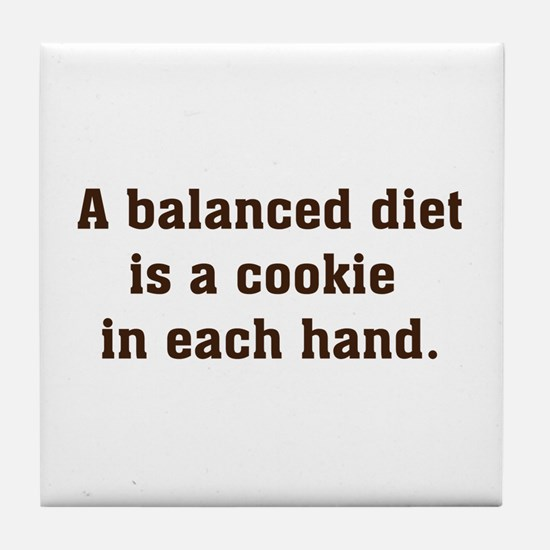Balanced Diet Tile Coaster