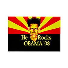 Obama He Rocks Rectangle Magnet (10 pack)